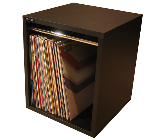 Sefour Vinyl Record Storage Box (Tobacco Walnut) (VC030-909) at Sears.com