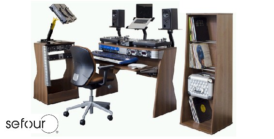 Studio Desk, Dj Stand, Vinyl Storage