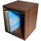 VINYL RECORD CARRY BOX  VC030-909 TOBACCO WALNUT